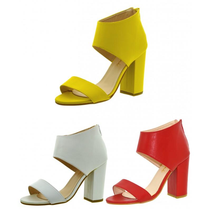 7373cfb479541 Sandali donna spuntati scarpe estive aperte con tacco decoltè estate ...