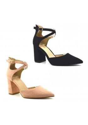 Scarpe donna decoltè a punta scarpe decollete camoscio tacco alto comodo
