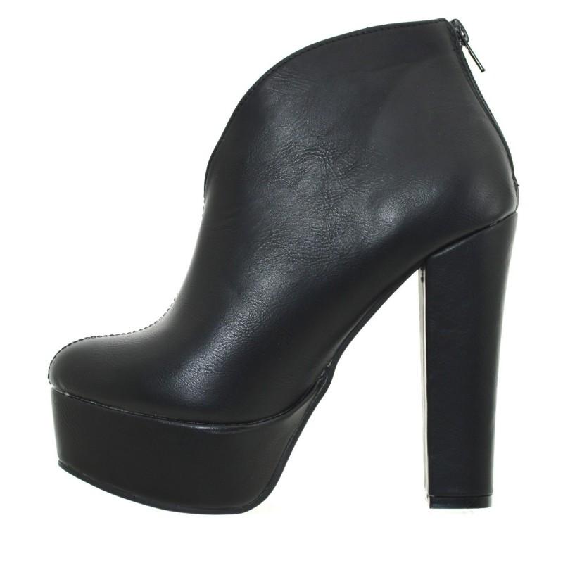 8edf1c8796ae7 ... scarpe donna stivaletti tronchetto plateau neri tacco alto anfibi donna  zeppa ...