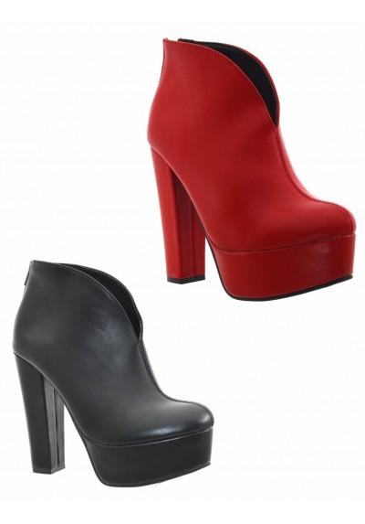 scarpe donna stivaletti tronchetto plateau neri tacco alto anfibi donna zeppa