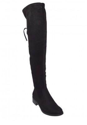 Stivali donna alti sopra il ginocchio stivale scamosciato tacco basso stivaletti