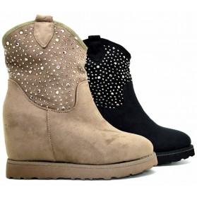 Stivaletti boots donna tronchetto stivali winter scarponi Scarpe calda pelliccia