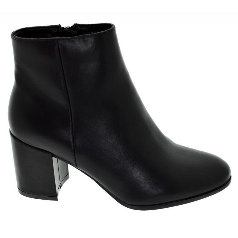 Stivaletti Neri scarpe donna con tacco largo zip 37 | eBay