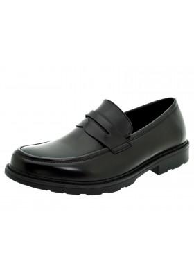 Mocassini uomo nero lucido eco pelle scarpe uomo classiche casual cerimonia