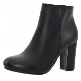 Tronchetti neri autunnali scarpe nere donna stivaletti tronchetto tacco alto