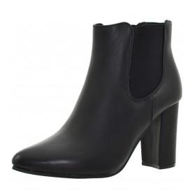 Tronchetti donna neri stivaletti bassi neri scarpe donna con tacco alto elastico