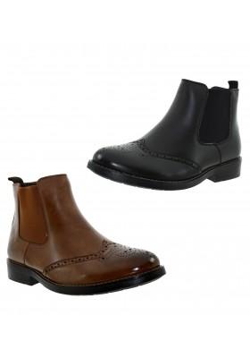 Scarpe uomo con elastici chelsea boots tronchetti con inglesine stivaletto moda