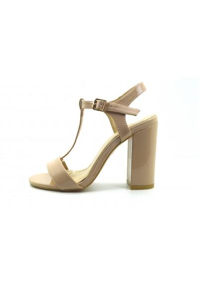 63744286fbae1 Scarpe sandali donna con tacco alto decolte lucide decolletè estive tre  colori