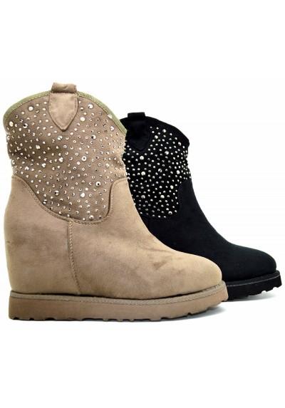 promo code 0bee4 0efe7 Stivaletti boots donna tronchetto stivali winter scarponi Scarpe calda  pelliccia