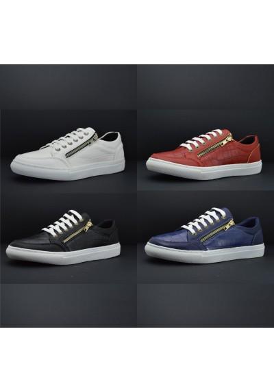Con Sportive Uomo Basse Comode Casual Laterali Zip Sneakers Scarpe n17zYY