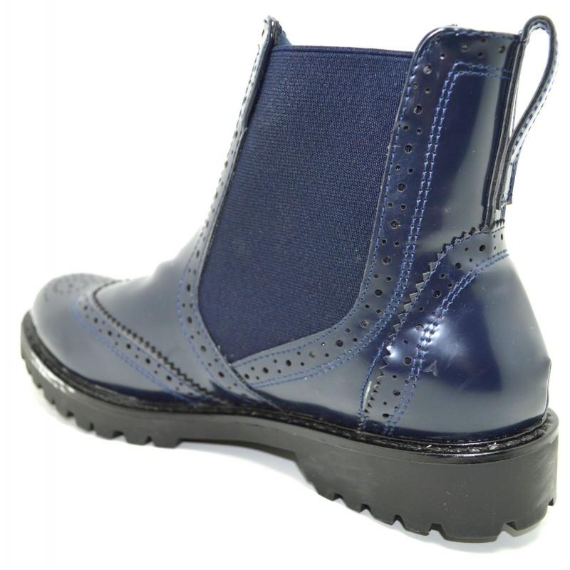 separation shoes c593a 714f1 Scarpe basse donna inglesine con elastici a tronchetto ...