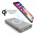 POWER BANK CON RICARICA WIRELESS 10000mAh QI per Apple iPhone X iPhone 8 Samsung