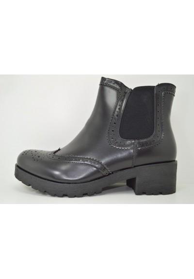 stivaletti donna Inglesine oxford eco pelle scarpe francesine alte con zip