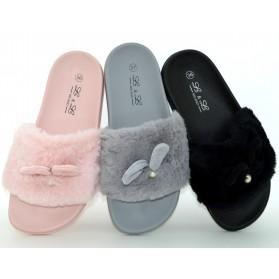scarpe donna coniglietto ciabatte ecopelliccia morbida pantofole con orecchie