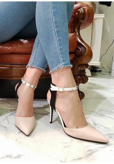 21741bc6f2 Decollte donna moda 2018 scarpe con le borchie tacco medio mary jane decoltè