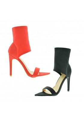 Sandali donna spuntati scarpe estive aperte con tacco alto decoltè estate