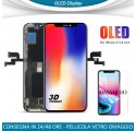 DISPLAY OLED IPHONE X VETRO FRAME LCD COMPLETO APPLE IPHONE 10 COME L'ORIGINALE