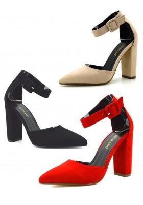 Scarpe donna decoltè a punta scarpe decollete camoscio tacco alto a spillo