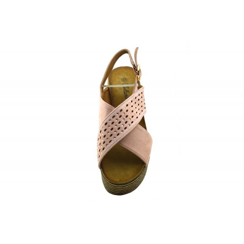 Ante Cuña Zapatos 45ajlqr3 Sandalias Plataforma Con Tacón De Mujer drCexWBo