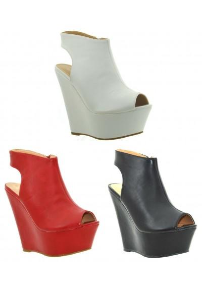 new style 5eb80 26690 Scarpe donna tronchetti con la zeppa sandali estivi sabot spuntati tacco  alto