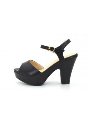 Scarpe donna sandali con tacco basso comodo e plateau decolte estive decolletè
