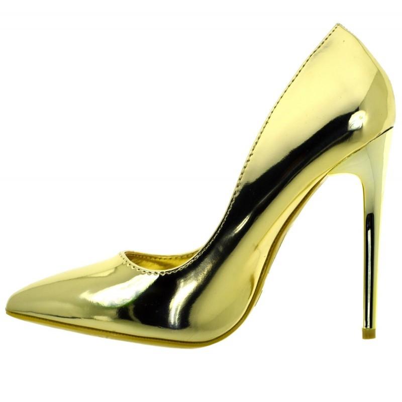 Scarpe donna eleganti decolte tacchi alti a spillo argento