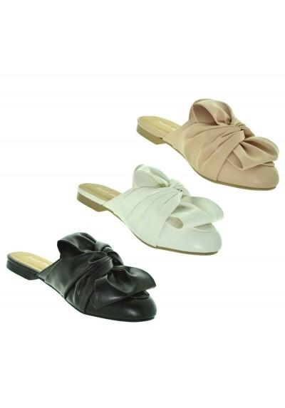 scarpe di separazione online qui prestazioni superiori SCARPE DONNA MOCASSINO APERTO SABOT ESTIVE CON TACCO BASSO COMODO CON FIOCCO