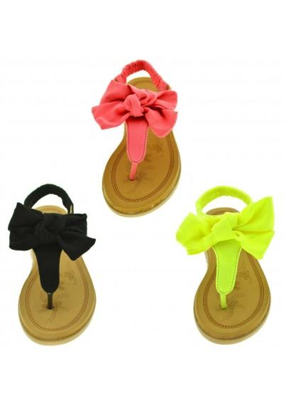 f786f646de Infradito estive donna sandali plantare morbido scarpe aperte mare con  fiocco