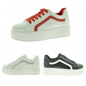 Sneakers sportive da donna platform bianche scarpe da ginnastica sport alla moda