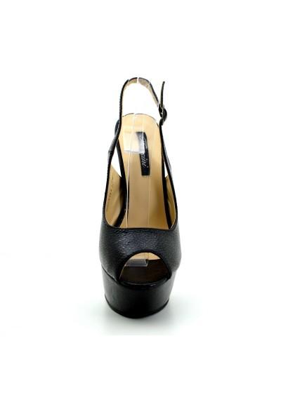 Scarpe donna decolletè con tacco alto a spillo spuntate con cinturino regolabile