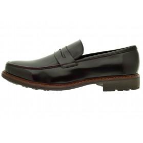 Mocassini uomo bordeaux lucido eco pelle scarpe uomo classiche casual cerimonia