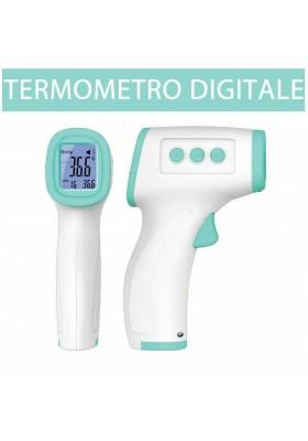 Termometro Laser Digitale ad Infrarossi Lcd per Misurazione Temperatura Corporea