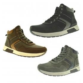 Scarpe sportive uomo sneakers alte da ginnastica con lacci jomix tre colori