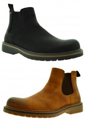 Scarpe uomo con elastici chelsea boots tronchetti ecopelle stivale scarponcini