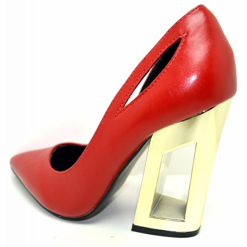 ... Decollete elegante scarpa modello mary jane scarpe da donna con tacco 10  ... 99177c80a8b