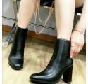 Tronchetti donna neri stivaletti bassi bianchi scarpe donna tacco largo pitonato