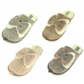 Ciabattine calde ciabatte aperte casa pantofole donna pattine babbucce fiocco