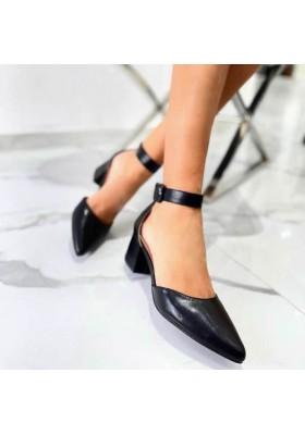 Scarpe nere donna decoltè a punta scarpe aperte decollete tacco comodo 2021