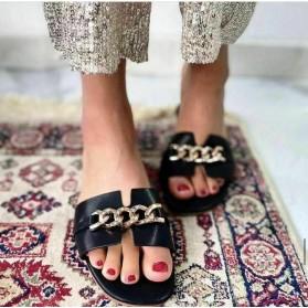 Sandali alla schiava colorati scarpe basse catene estive aperte eleganti 2021NEW