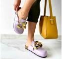 Sandali estivi donna ciabatte in sughero scarpe colorate mare sabot con catena