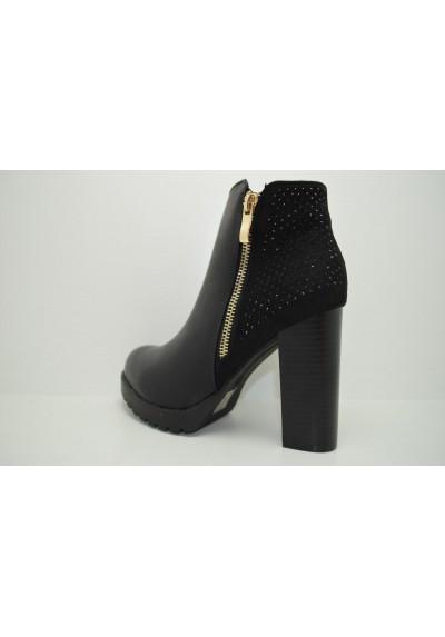 Scarpa tronchetto donna tacco alto scarpe con strass mary jane glitter decolte