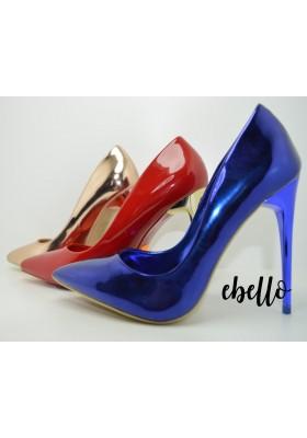 Scarpe donna eleganti decolte con tacchi alti a spillo sandali colore vernice