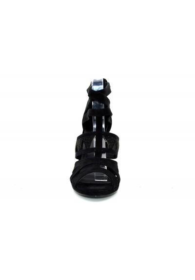 Scarpe donna sandali scamosciati tacco alto a spillo con strass decoltè estive