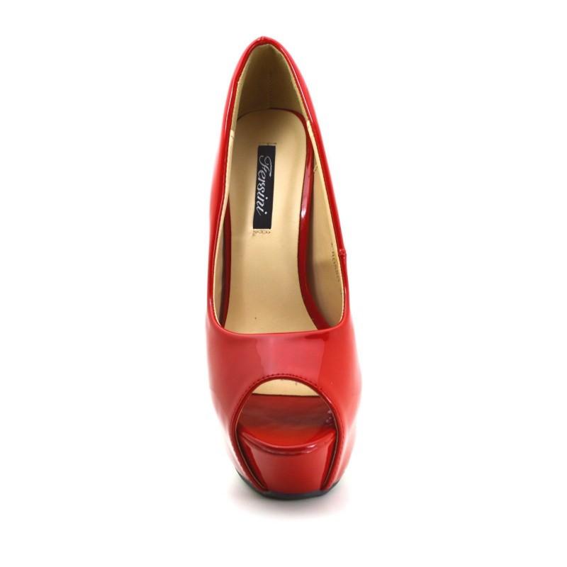 Scarpe Donna Rosso 40 Decoltè Spuntati Fibbie oro tacco alto