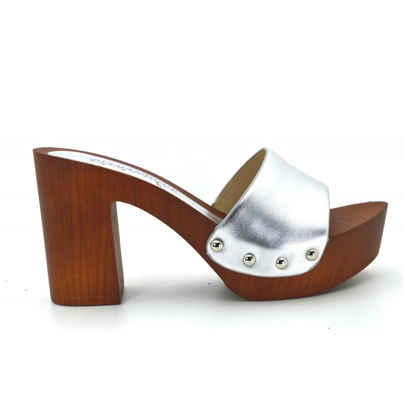 f8e4dedfd83c6 ... Sandali donna zoccoli mare con tacco e plateau effetto legno scarpe  estive ...