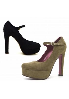 Scarpe donna decolte scamosciate decollete con plateau scarpe scamosciate tacco