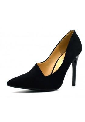 decolte donna tacco alto a spillo decoltè nera scarpe donna a punta scamosciate